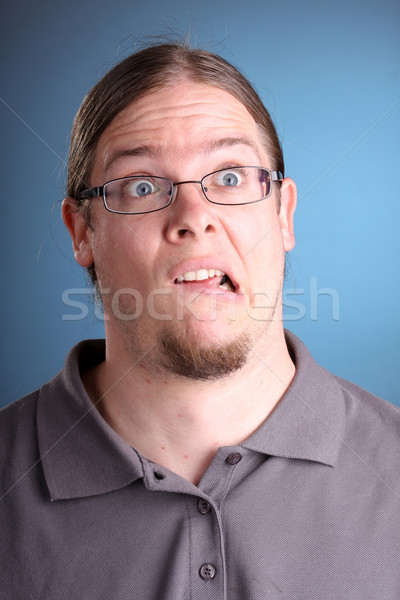 portrait of man with long hair Stock photo © csakisti