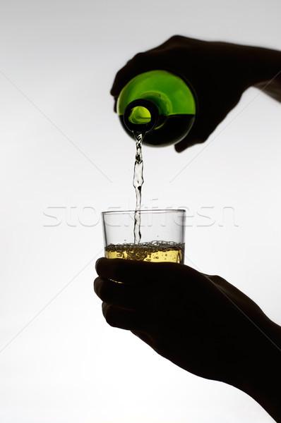 女性 手 ワイン ガラス シルエット ストックフォト © CsDeli