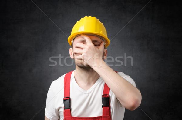 Deluso giallo uomo costruzione Foto d'archivio © CsDeli