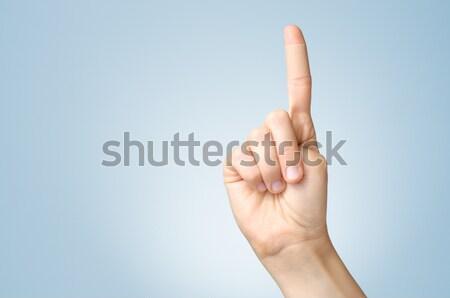Tapasz női ujj mutatóujj tapadó bandázs Stock fotó © CsDeli