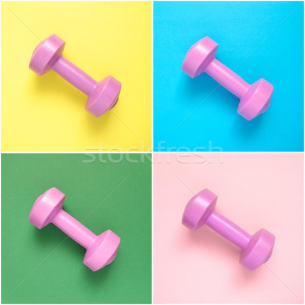 Collage roze kleurrijk achtergrond groene Stockfoto © CsDeli