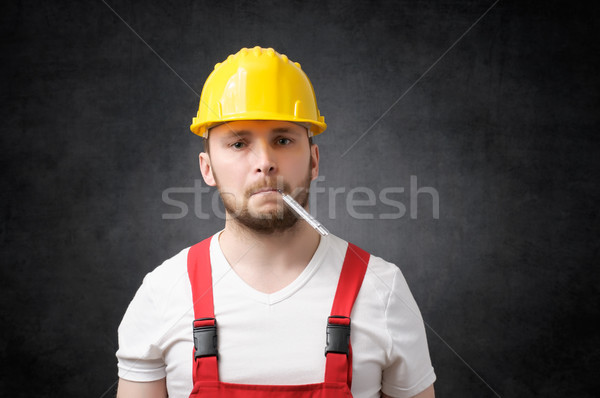 Sick construction worker Stock photo © CsDeli
