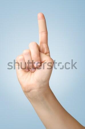 石膏 女性 親指 接着剤 包帯 青 ストックフォト © CsDeli