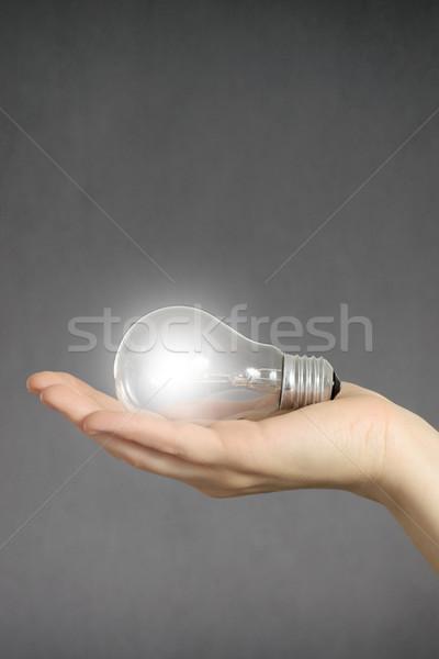 Mano bombilla idea negocios Foto stock © CsDeli