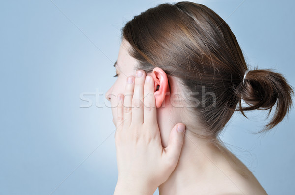 Ear inflammation Stock photo © CsDeli