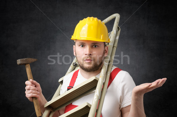 Clumsy worker with tools Stock photo © CsDeli
