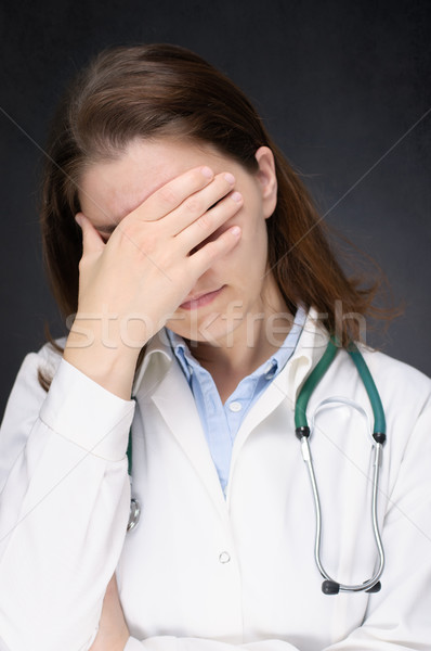 Tired doctor Stock photo © CsDeli