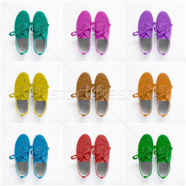 Collage of colorful shoes Stock photo © CsDeli