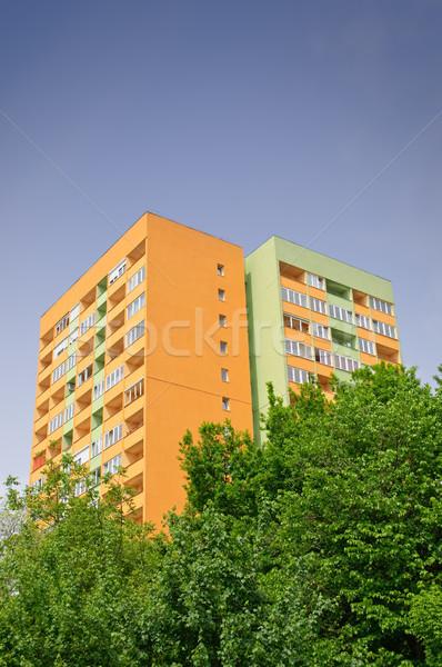 Insulated block of flats Stock photo © CsDeli