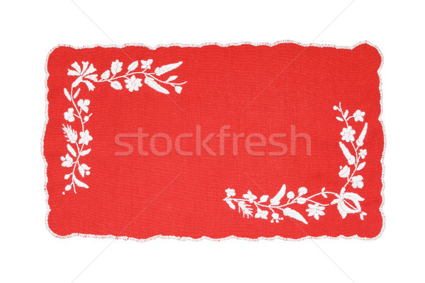 Hongrois nappe rouge blanche isolé art Photo stock © CsDeli