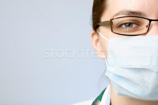 医師 着用 マスク 女性 顔 見える ストックフォト © CsDeli