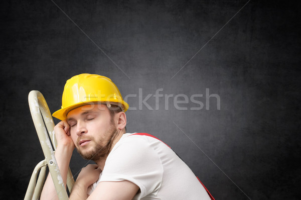 Lazy worker with ladder Stock photo © CsDeli