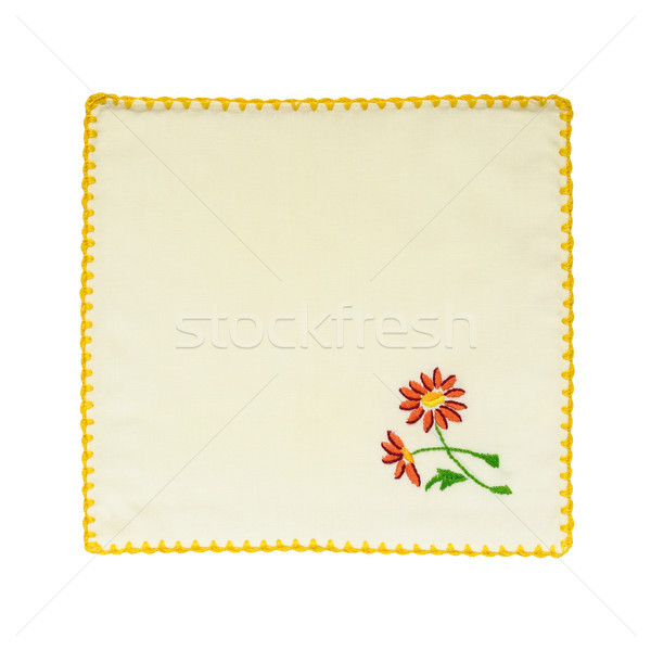 Embroidered tablecloth Stock photo © CsDeli