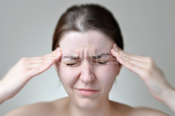 若い女性 頭痛 痛い 頭 少女 ストックフォト © CsDeli