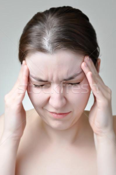 頭痛 若い女性 少女 健康 悲しい 頭 ストックフォト © CsDeli