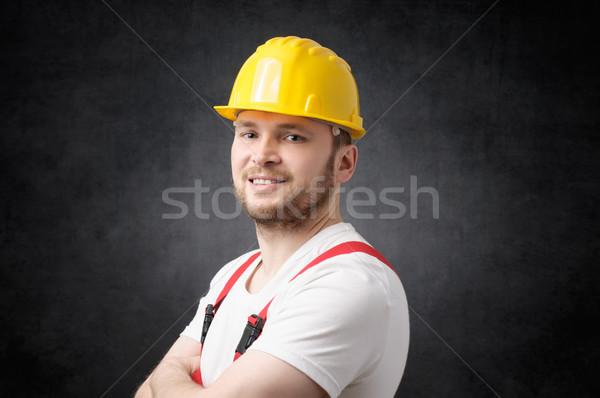 Gelukkig werknemer glimlachend naar camera Stockfoto © CsDeli