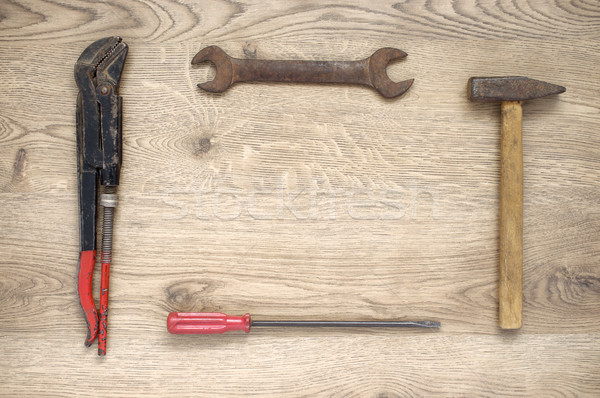 Frame made of old tools Stock photo © CsDeli