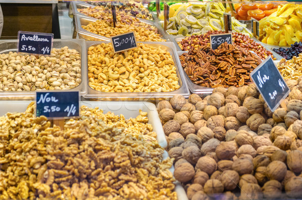 Various type of nuts in the market Stock photo © CsDeli
