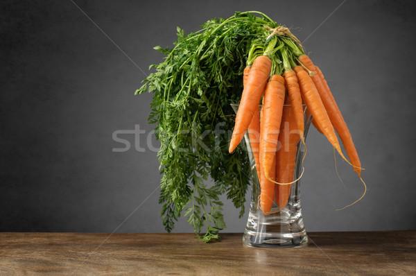 свежие морковь стекла ваза продовольствие Сток-фото © CsDeli