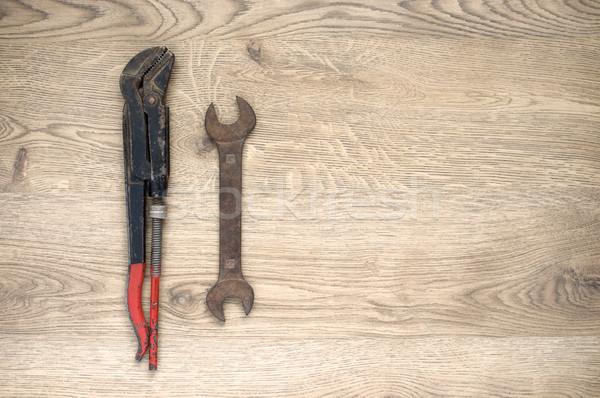 Edad herramientas espacio de la copia Rusty mano madera Foto stock © CsDeli