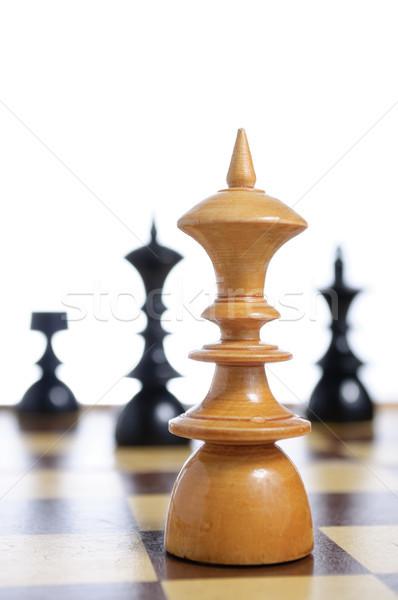 Tablero de ajedrez fondo mesa grupo éxito lucha Foto stock © CsDeli