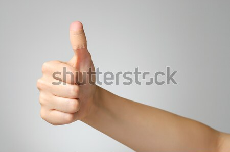 Plaster on female finger Stock photo © CsDeli