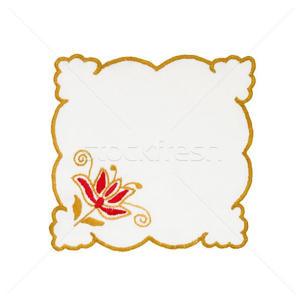 Embroidered tablecloth Stock photo © CsDeli