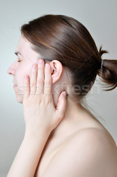 Ear pain Stock photo © CsDeli