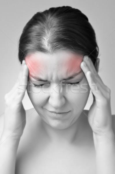 Young woman having migraine Stock photo © CsDeli