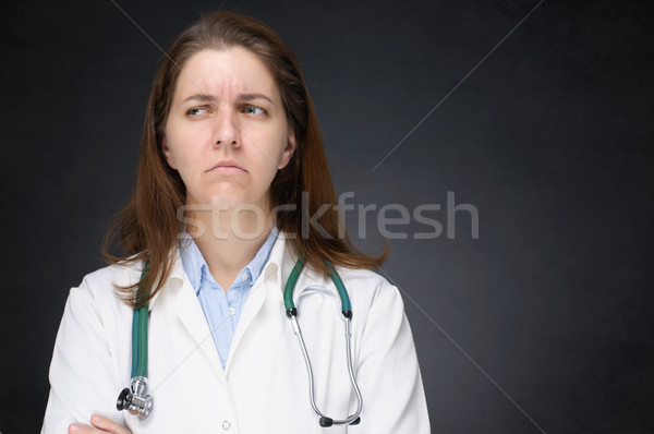 Angry doctor Stock photo © CsDeli