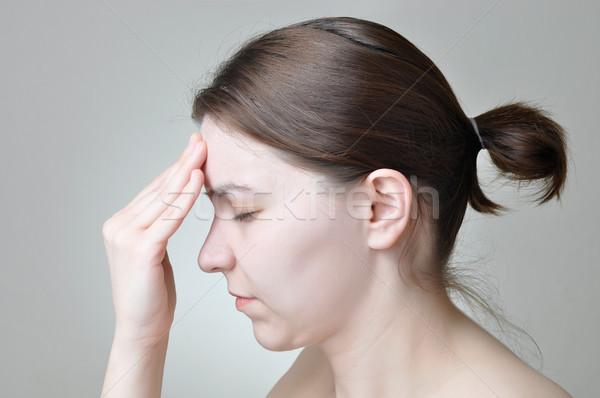 頭痛 若い女性 少女 健康 悲しい 肖像 ストックフォト © CsDeli
