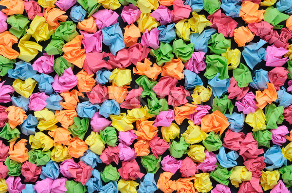 Colorful crumpled papers Stock photo © CsDeli