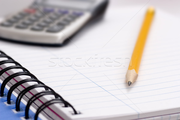 карандашом калькулятор ноутбук служба бумаги фон Сток-фото © ctacik