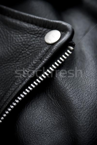 подробность черный детали кожи Сток-фото © ctacik