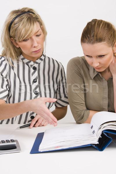 бизнес-команды рабочих документы успешный школы работу Сток-фото © ctacik
