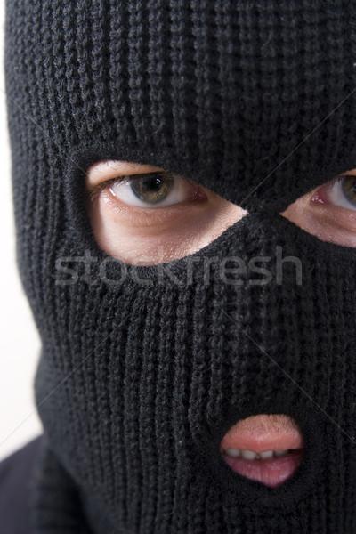 Crimineel kwaad militaire masker man Stockfoto © ctacik