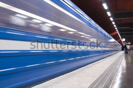 Metrô rápido trem viajar urbano Foto stock © ctacik
