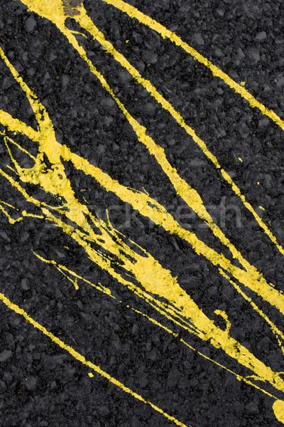 желтый краской стены цемент фон Сток-фото © ctacik