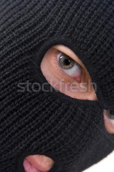ストックフォト: 犯罪者 · 悪 · 着用 · 軍事 · マスク · 男