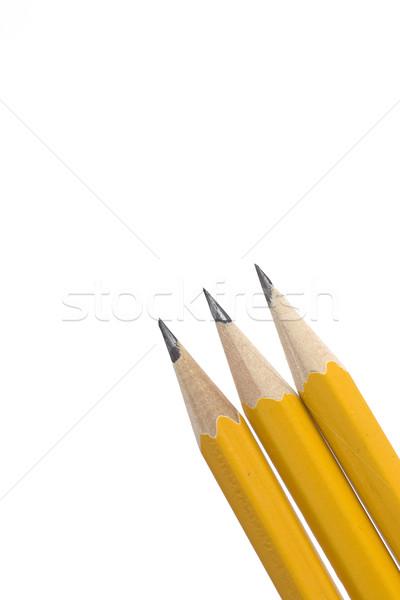 Lápis forte isolado branco escolas Foto stock © ctacik