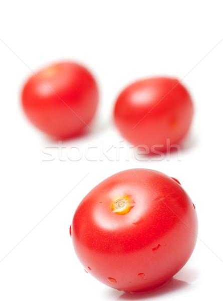 свежие помидоров белый красный фон томатный Сток-фото © ctacik