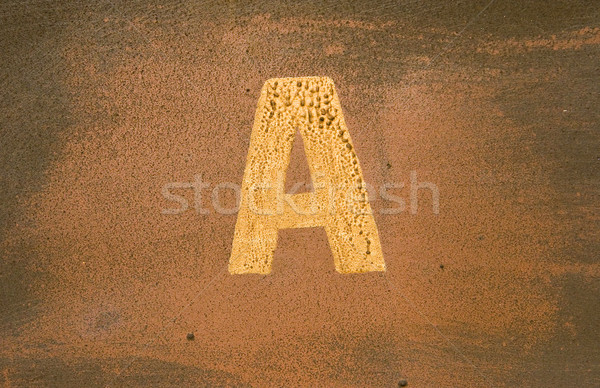 letter 'A' on old wall Stock photo © ctacik