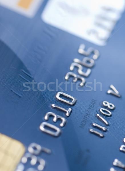 Karty kredytowej niebieski kredytowej bezpieczeństwa pieniężnych Zdjęcia stock © ctacik