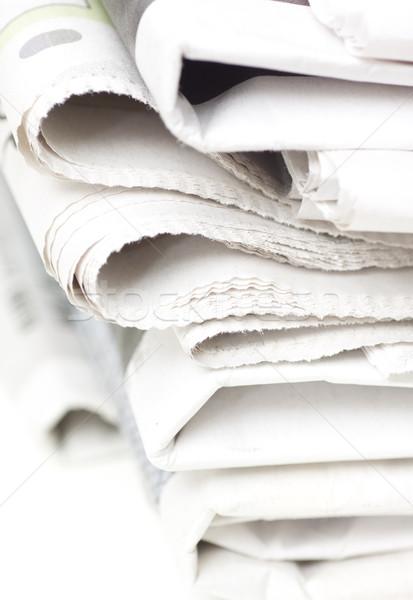 газет белый таблице бизнеса бумаги Сток-фото © ctacik