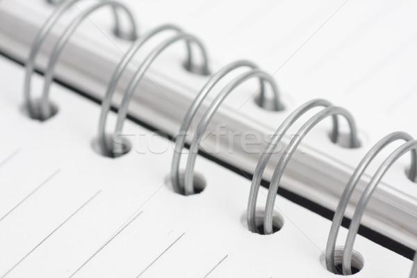 Notebook spiraal vel boek werk achtergrond Stockfoto © ctacik