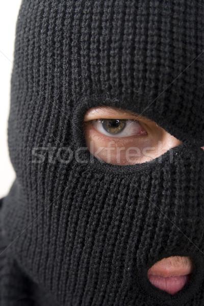 Stockfoto: Crimineel · kwaad · militaire · masker · man
