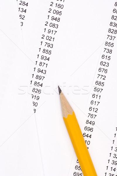 Lápis documentos amarelo escritório informação escrever Foto stock © ctacik
