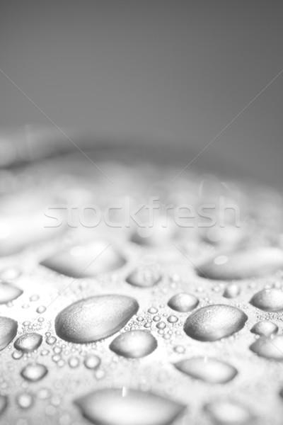 капли воды серебро металлической поверхности воды текстуры металл Сток-фото © ctacik