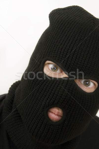 Ceza kötü askeri maske komik Stok fotoğraf © ctacik