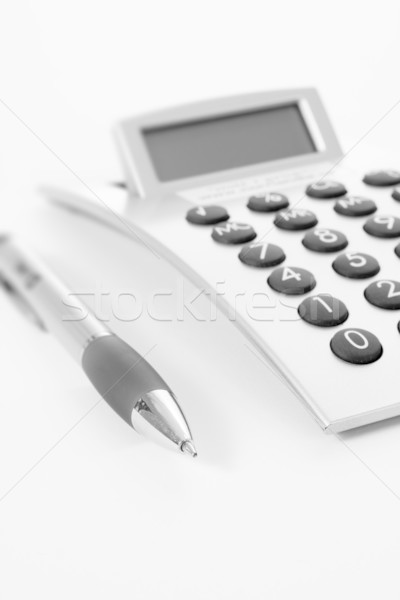 Pen calculator business werk potlood succes Stockfoto © ctacik